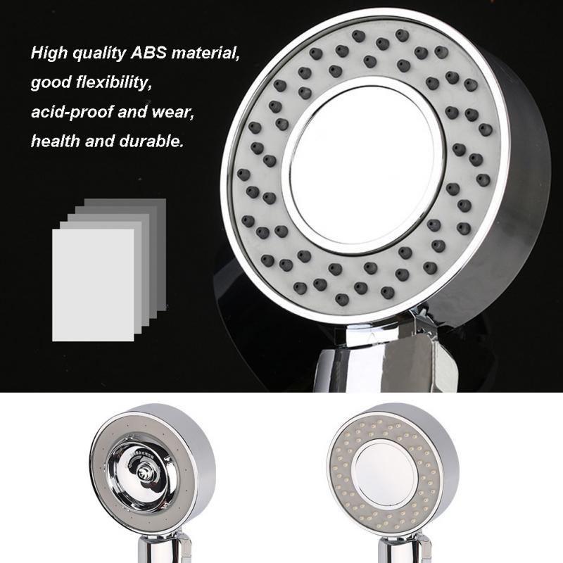 Двухсторонняя насадка для душа водосберегающая круглая ABS хром усилитель для ванны душ высокого давления ручной душ