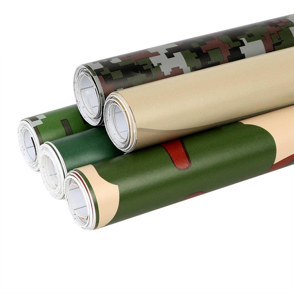 자동차 랩 필름 3D 자동차 스티커 위장 비닐 PVC 육군 군사 디지털 우드랜드 그린 사막 카모 20cm * 152cm 자동차 스타일링
