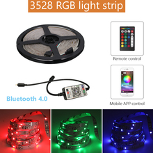 5M Waterproof LED Strip Light RGB SMD 3528 Flexible Led DC 12 V 5 Meters Addressable With Remote App Control