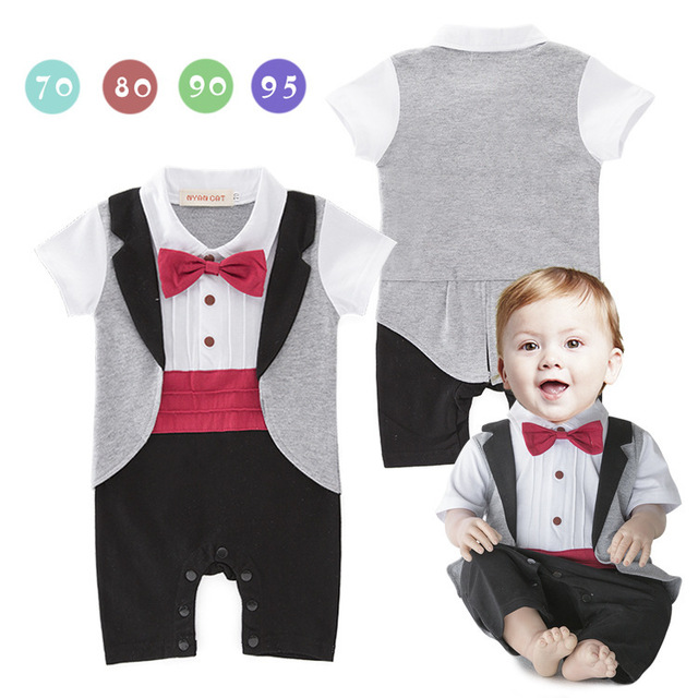 907bfaed59d Baby Rompers Spring Baby Boy Clothes 2019 Newborn Bebe Clothes Gentleman Baby  Boys Clothing Sets Roupas Infant Jumpsuits 3-18M