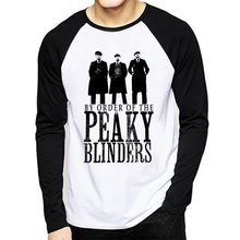 Nieuwe Peaky Blinder T-shirt Mannen Peaky Blinders Kleding Hipster T-shirt Lange Mouw Casual T-shirt Prints Tops Mannen T-Shirt(China)