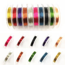 Hot Sale 0.3 Mm * 10 M DIY Tembaga Kabel/String Baru Aksesoris Multicolor Kawat 1 Roll Fashion kawat Perhiasan Manik-manik(China)