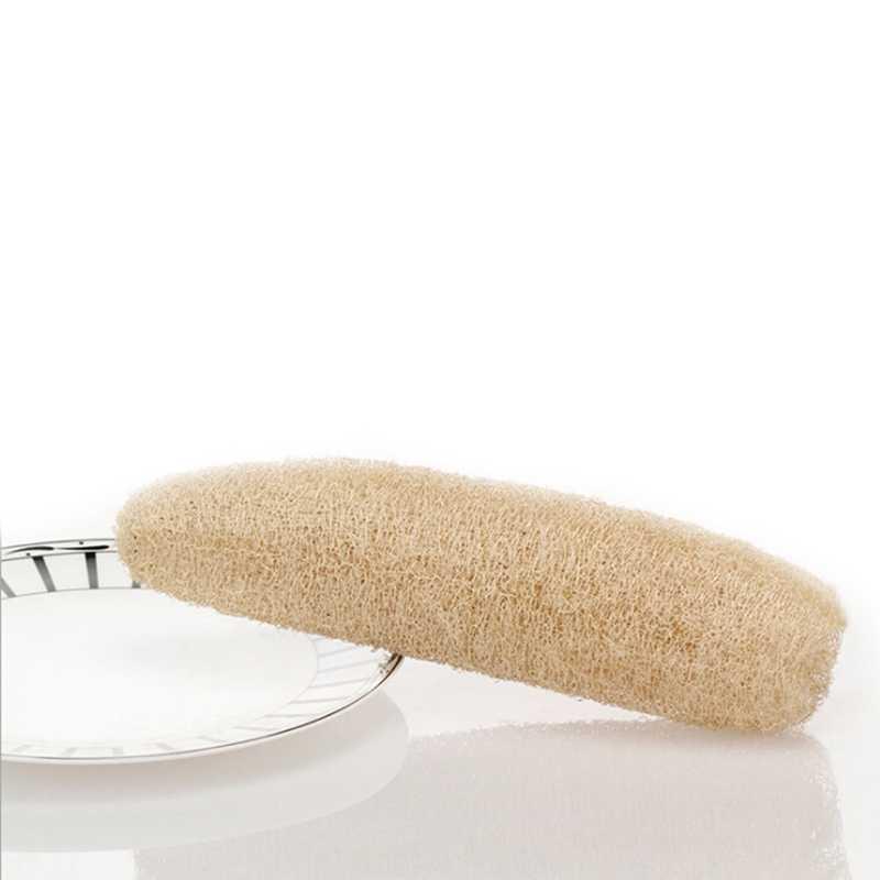 Длинный банный для тела для душа Губка скруббер натуральный Luffa Loofa ванны Массажная горшок щетка для миски Spa аксессуары для ванной комнаты D3