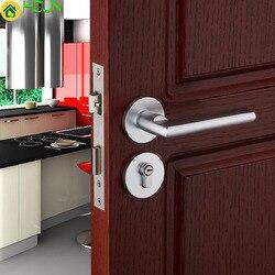 Srebrzysty biały europejski zwięzły miejsca aluminium stałe rozszczepienia blokada kryty sypialnia drzwi drewniane mechanika sprzętu zamek ma