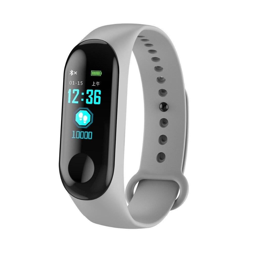 Smart Wristband Women M3 Plus Ips Color Screen Smart Sport Fitness Bracelet Ip67 Waterproof Blood Pressure Fitness Tracker Men