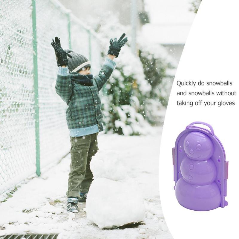 1 Pc Winter Outdoor Sport Schneeball Maker Sand Form Werkzeug Schnee Ball Maker Lustige Compact Schneebälle Kampf Schnee-kugeln Spielzeug Zufällige Farbe
