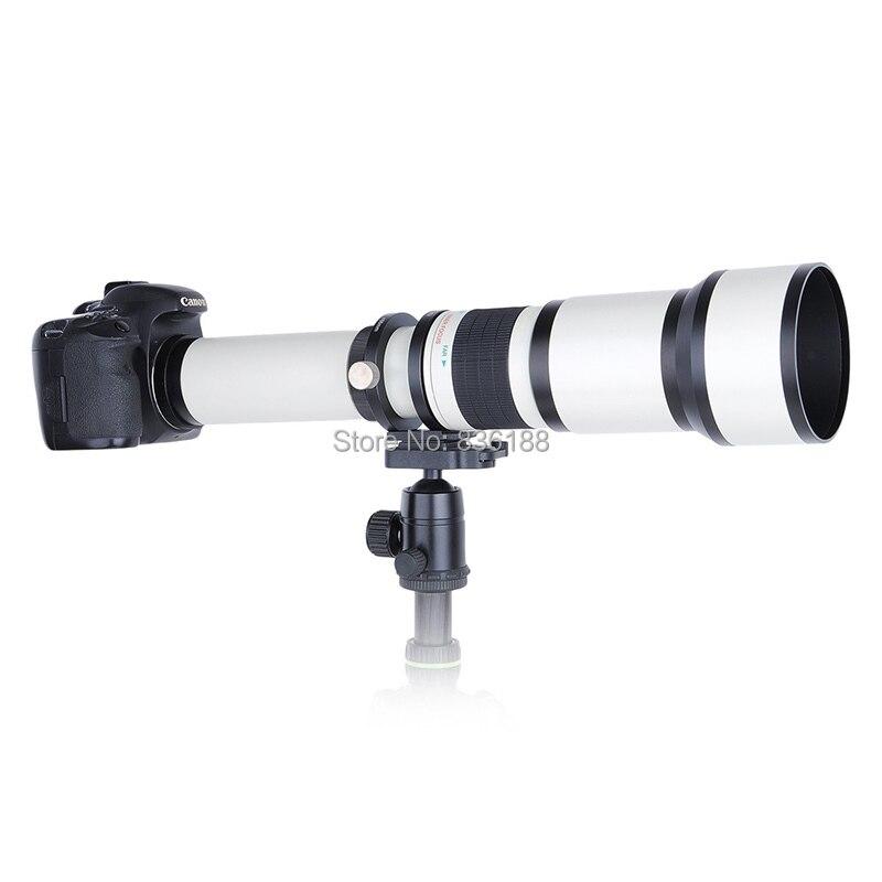 JINTU blanc 650-1300mm MF suppuer Kit de téléobjectif + adaptateur T2 + étui pour Nikon 1 monture J4 S2 V3 J3 J2 J1 S1 V2 AW1 appareil photo reflex