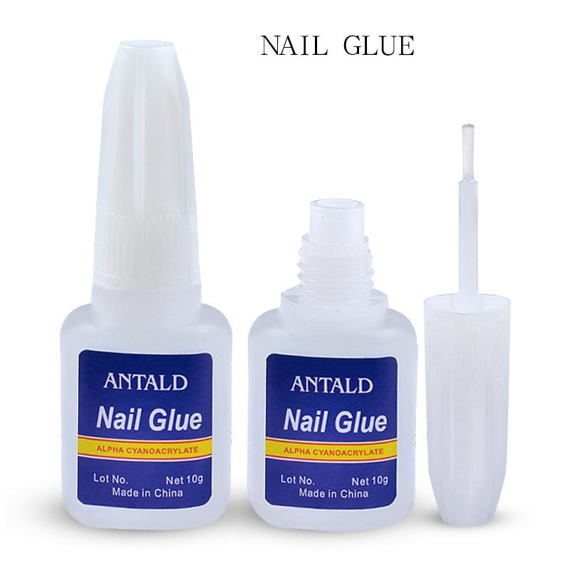 Sale 10g Quick Drying Nail Glue With Brush Nails Glitter Rhinestones Decoration Nail Art  29