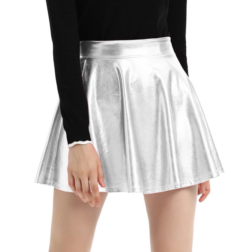 8577ffd8ea Women High Waist Velvet Pleated Skirts New Fashion Velvet Black Short Sexy  Skater Skirt 3 Colors