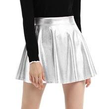 bddafefae20 Для женщин Высокая талия бархатные плиссированные юбки Новая мода бархатные  черные короткие пикантные приталенная юбка 3