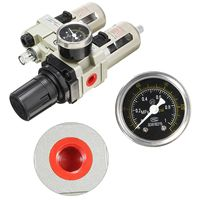 3/8 Air Compressor Oil Lubricator Moisture Water Trap Filter Regulator Gauge Mechanical Hardware Pneumatic Parts Aluminum Allo