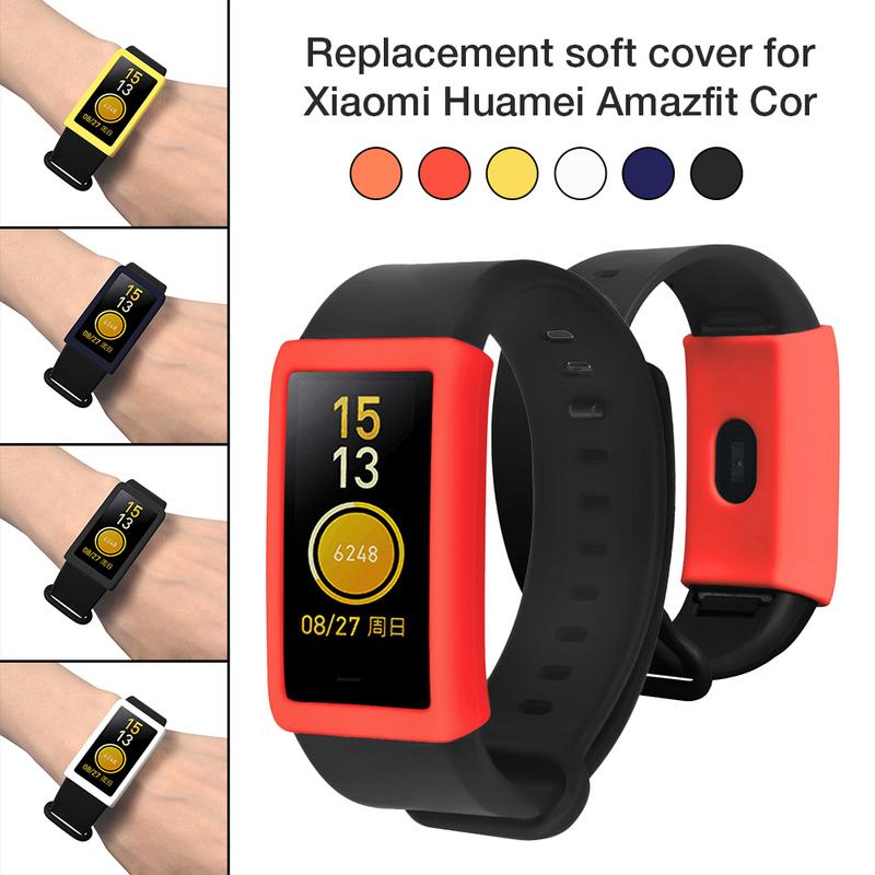 Image 5 - Silicone Soft Case Portable Anti crack Smart Protective Cover Replacement Scratch proof Protector For Xiaomi Huamei Amazfit Cor-in Screen Protectors from Consumer Electronics