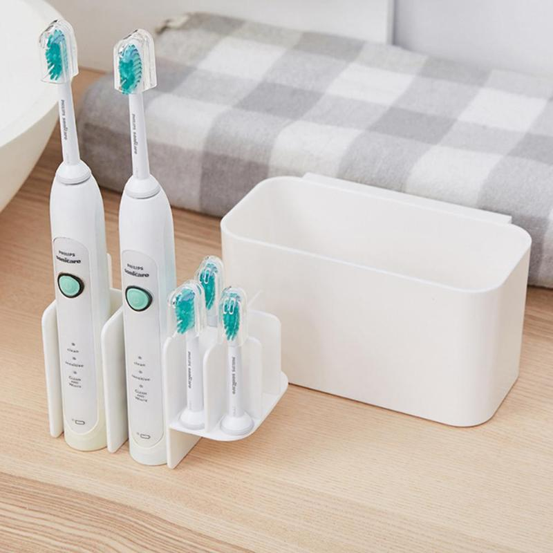 Detachable Toothbrush Holder Storage Box Bathroom Electric Toothbrush Dispenser Shelf Toothpaste Organizer Rack image