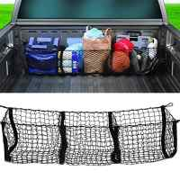 Car Accessories Pickup Trucks Car Trunk Net Bag Three Grid Luggage Three-Dimensional Net Pocket Auto Accessories