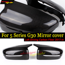 For BMW G30 Mirror Cover M Style Carbon Fiber Rear View caps 520i 530i 530ixD 540i 550ixD left hand drive 17+