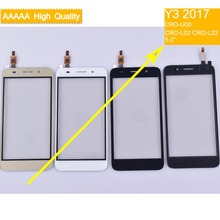 10Pcs/lot For Huawei Y3 2017 CRO-U00 CRO-L02 Touch Screen Panel Sensor Digitizer Front Glass Outer Lens Y5 Lite
