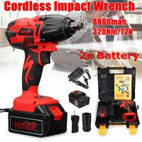 25V 8800Ah Li ion Electric Impact Wrench Guns 320Nm High Torque Impact Wrench Cordless 1/2 Batteries 1 Charger Power Tool