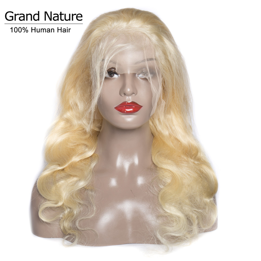 #613 Blonde Brazilian Body Wave Human Hair Lace Front Wig 10-28inch Remy Hair Wigs 150% Density Silky Long Thick Free Shipping