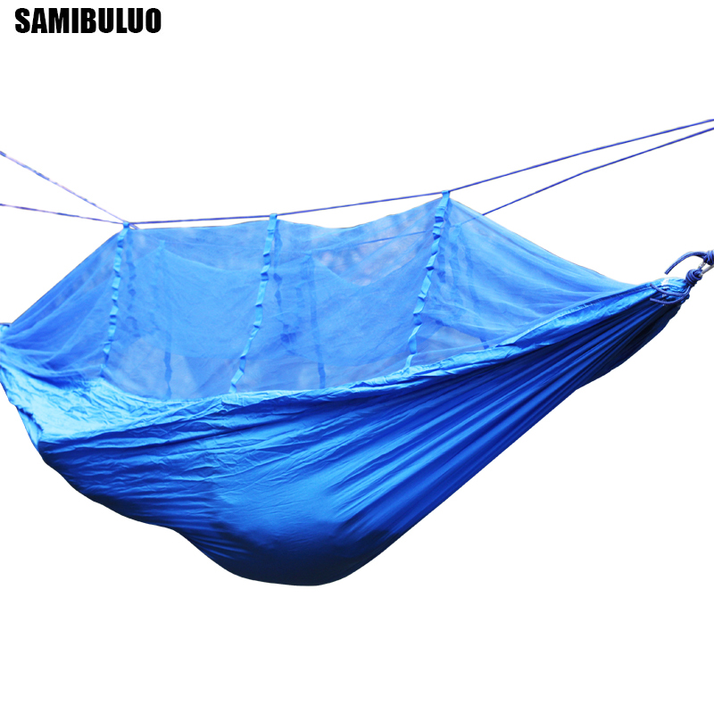 Outdoor Mosquito Net Parachute Hammock 1 2 Person Camping Hanging Sleeping Bed Swing-in Hammocks from Furniture