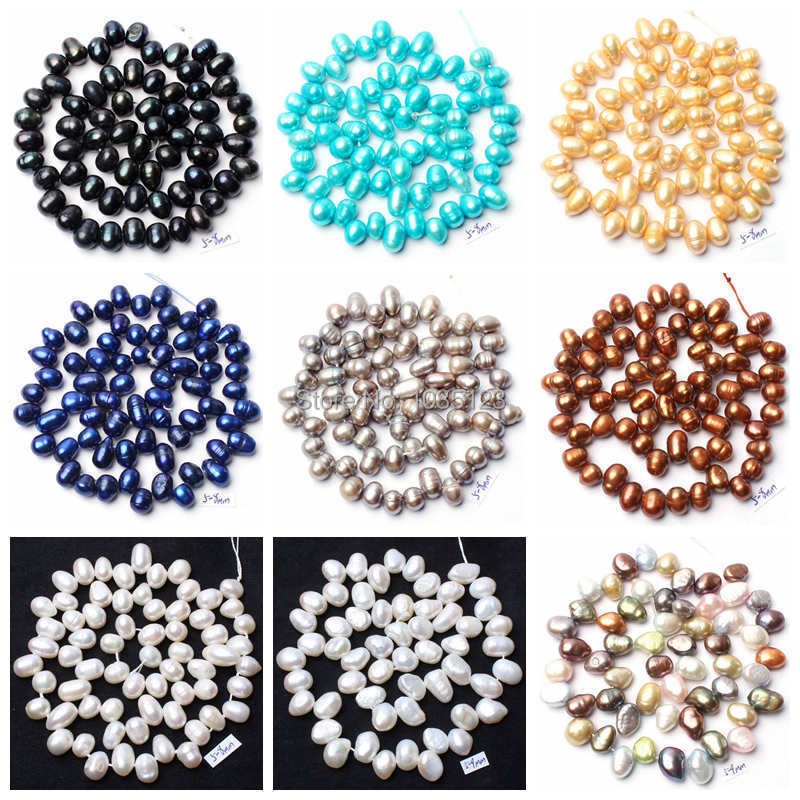 """Free Shipping 5-8mm Natural 11 Color Freshwater Pearl Irregular Shape Loose Beads Strand 15"""" Jewelry Accessory wj94"""