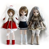 New Dolls Monster Simulation Cute BJD Doll Toy Cotton Fabric 30cm Height Realistic Look Rich Gameplay Girls Toy Gifts