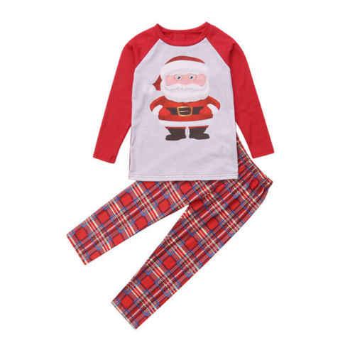 d5b8d1edb1ba ... Family Santa Claus XMAS Matching Outfits Adult Women Kids Baby Christmas  Pyjamas Nightwear Pajamas PJS Set ...