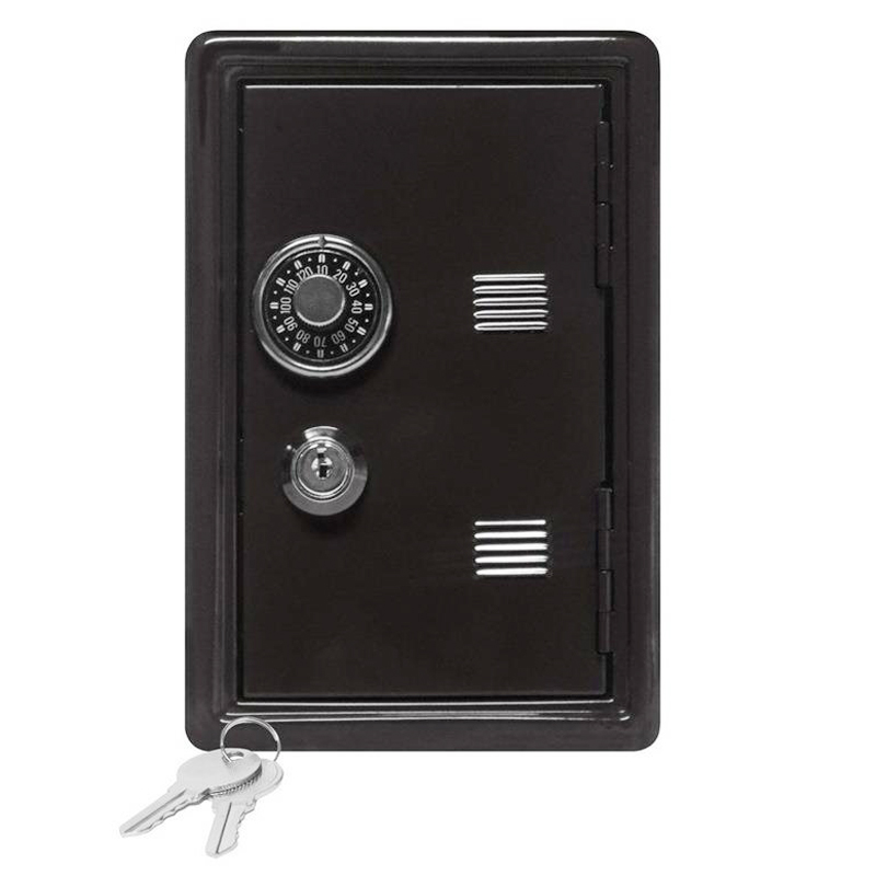 Portable Safety Box Mini Piggy  Bank And Security Money Jewelry Storage Collection Home Office Security Storage Box DHZ028