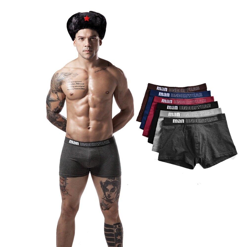 4 Teile/los Männer Unterwäsche Boxer Baumwolle Mann Kurze Atmungsaktive Feste Flexible Bequeme Shorts Boxer Männlichen Unterhose Viele GläNzend Unterwäsche & Schlafanzug