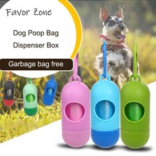 Pet Dog Poop Bag Dispenser Box Doggy Waste Garbage Clean Plastic Bags For Dogs Outdoor Home Non-toxic Products
