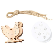 16PCS Wooden Funny Hemp Rope Eggs Pendant Cock Pendant Prop Decor Set for Party Home(China)