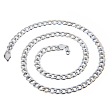 Hip Hop Trendy Unisex Silver Long Chain Link Fashion Rapper Necklace Classic Punk Rock Jewelry Party Gifts For Men Women