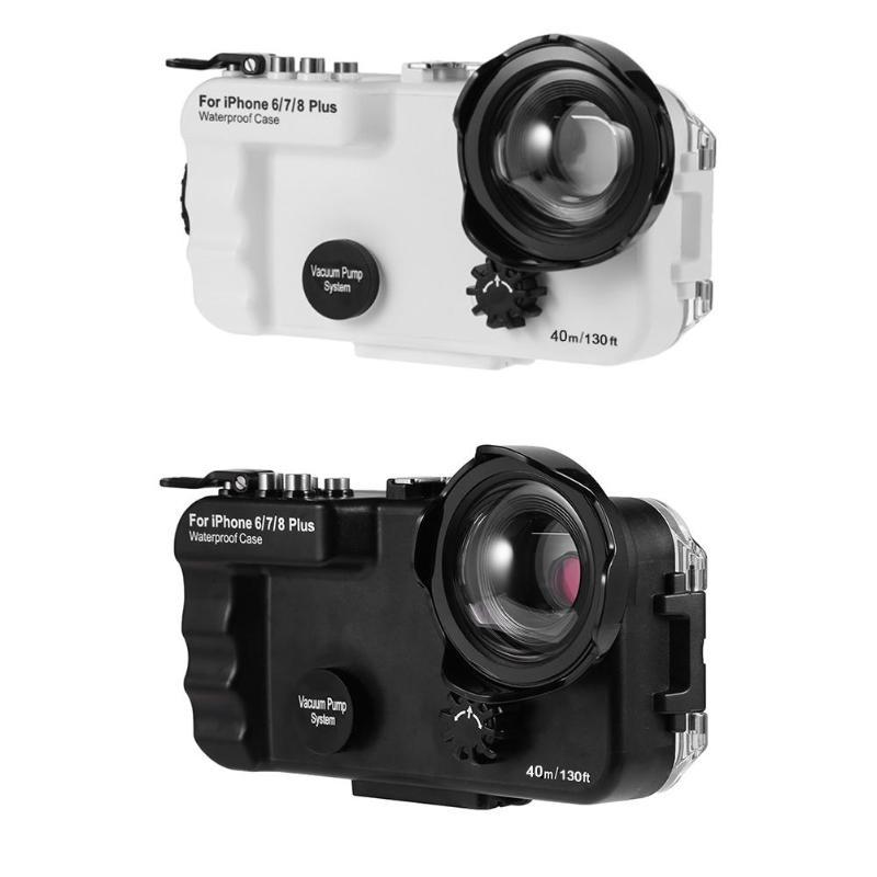 40m 130ft Underwater Camera Waterproof Diving Case for iPhone 6 7 8 Plus X Waterproof Cover
