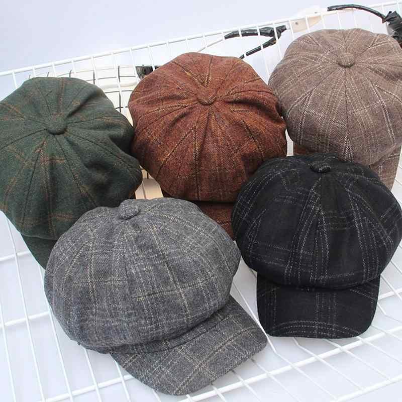 53c7dfc91fa 2018 new Cap Men autumn winter Hat for men Golf Driving Flat cap Unisex  Berets Hat