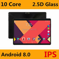 Super 2.5D verre trempé IPS 10 pouces tablette PC 4GB RAM 64GB ROM MTK6797 Deca Core 3G 4G LTE FDD double cartes Sim PC tablettes 10.1