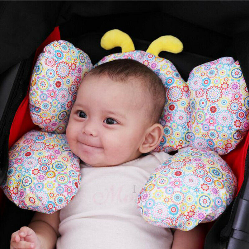 New Infant Baby Soft Car Seat Pillow Pram Stroller Headrest Support Pad Floral Print Prevent Flat Head Neck Protector