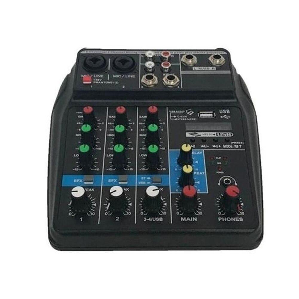 TU04 BT konsola miksowania dźwięku nagrywania zasilanie Phantom 48V Monitor ścieżki AUX oraz efekty 4 kanały mikser audio z USB w Części i akcesoria do przyrządów elektrycznych od Sport i rozrywka na AliExpress - 11.11_Double 11Singles' Day 1