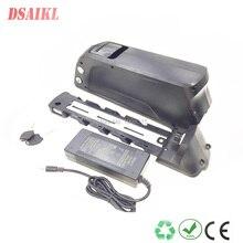 EU US no tax 250W 500W 36V 12Ah shark tube li-ion battery pack with 42V 2A charger