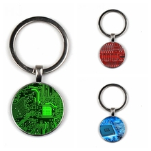 Glass Keychain Engineer's Gift Circuit-Board PCB Layout