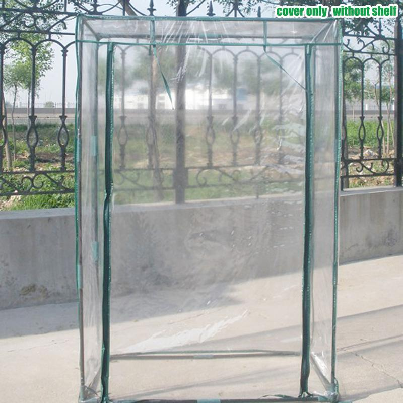 PVC Warm Garden Tier Mini Household Plant Greenhouse Cover Waterproof Anti-UV Protect Garden Plants Flowers Without Holder