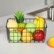 Organizer-Holder Wrought-Storage-Basket Kitchen-Toy Sundries-Container Iron Fruit Bathroom