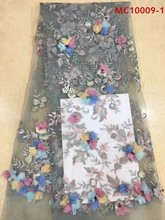 Mr.Z Latest 2019 Nigerian French Lace Fabric Embroidered Africa Tulle Mesh High Quality African