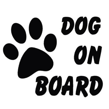 Dog on Board Car Sticker Car-styling Stylish Pet Footprint Paw Puppy Reflective Stickers Decals Auto Decoration Accessories image