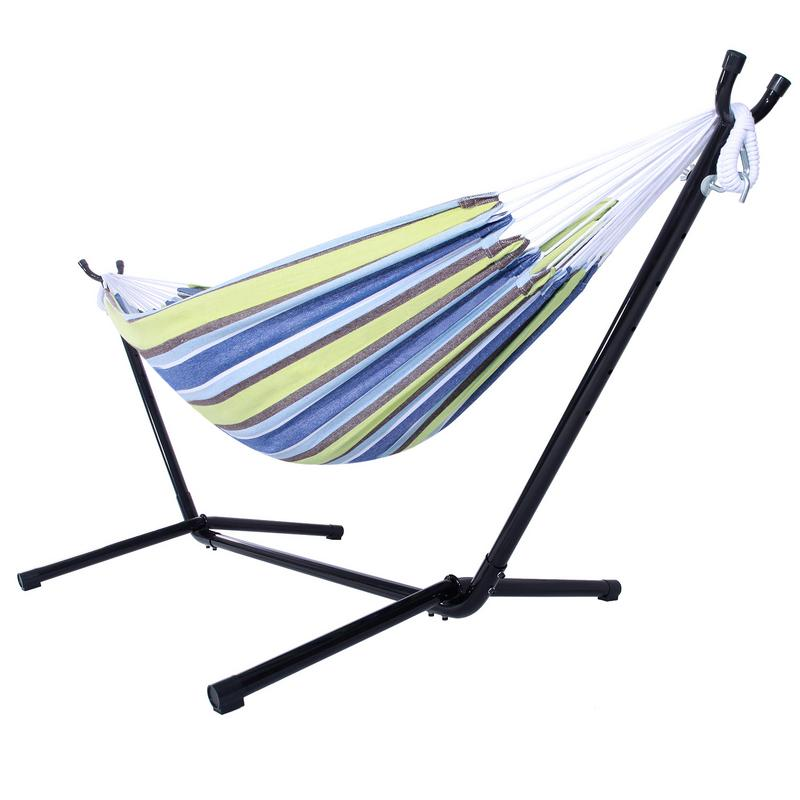 Portable Outdoor Camping Hammock Stand And Handbag Hanging Bed Hunting Sleeping Swing Relax Garden Furniture