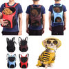 Outdoor Double Shoulder Dog Bag Backpack Pet Travel Dog Cat Carrier Mesh Windows