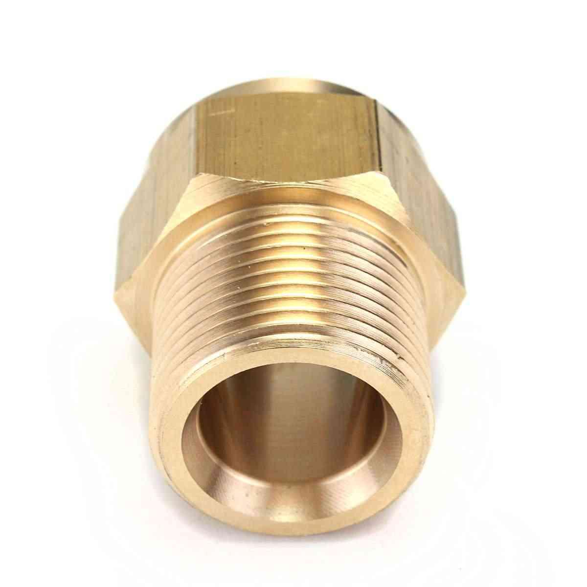 Nieuwe Collectie M22 Mannelijke X M22 Vrouwelijke Messing Gouden Slang Adapter Voor Karcher HD HDS 550 601 645 745 7/10
