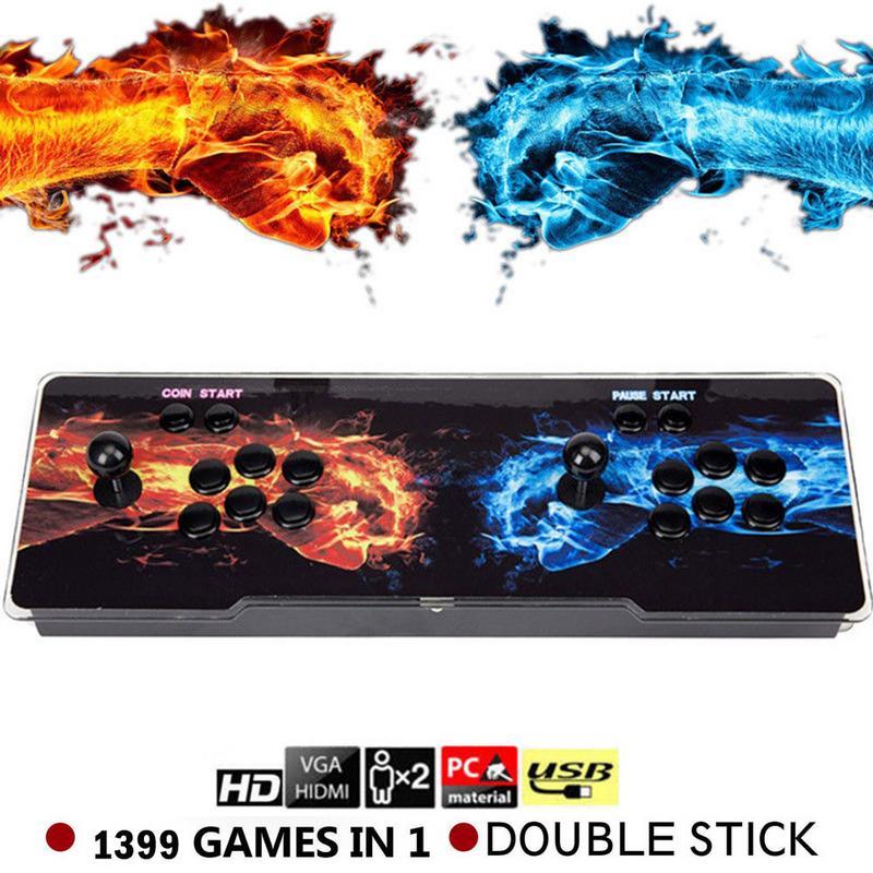 1388 en 1 boîte 6 S Heros de tempête Arcade Console de jeu Double bâton 720 P Machine d'amusement à pièces