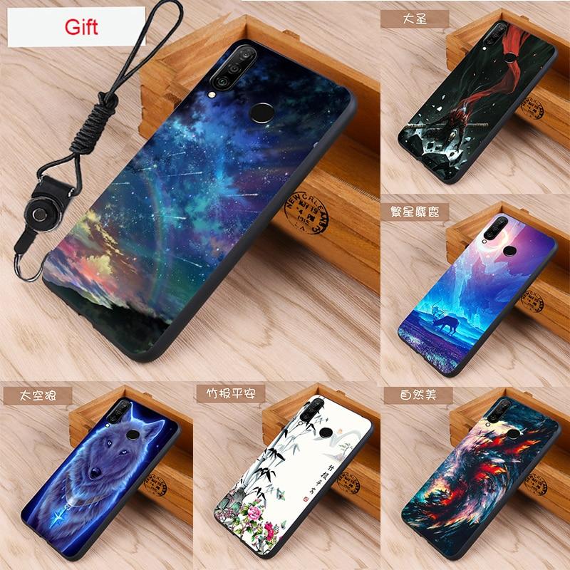Huawei p30 lite Case For Huawei p30 lite Case Cover silicone Fundas Huawei p30 lite phone Cases p30 lite cover TPU Cartoon
