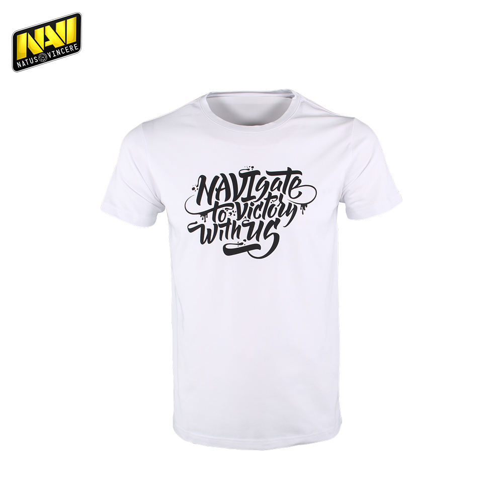 T-Shirts NATUS VINCERE FNVNGSHRT17WT0000 mens shirt Clothing Tops Tees Jersey men Cotton NAVI CS:GO Dota 2 simple esports new summer casual cotton men short jeans fashion brand men s bermuda boardshorts jeans shorts mens ripped plus size 28 36