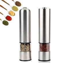 Elektrische pfeffermühle salz und pfeffer schleifen Einstellbar Grobheit Spice Grinder Muller Küche Werkzeug Batterie nicht enthalten