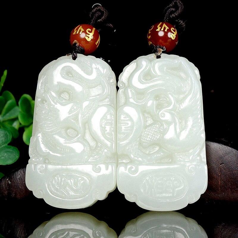2019 vente Chakra jointures livraison gratuite bijoux Xinjiang Hetian Dragon et Phoenix avec Couple pendentif sculpté à la main porter pour